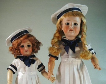 Bleuette and Rosette patterns for doll clothing - ATLANTIC a GL Sailor style ca 1950's