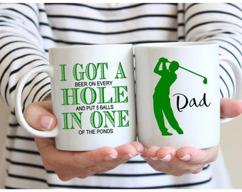 Golf Mug, Golf Gifts for Men, Golf Gifts for Women, Golf Gifts for Him, Funny Golf Gifts, Dad Mug, Dad Gift, Father's Day, Custom Dad Gift