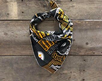 Pittsburgh Steelers Football NFL Tie On Dog Bandana