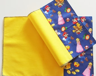 Set two American Super Mario themed placemats (Mario Bros)