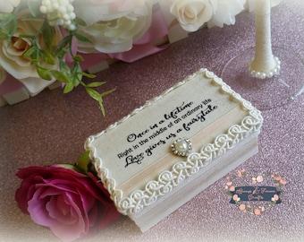 Wedding Ring Box - Ring Bearer Box - Proposal Box - Engagement Ring Box - Wooden Wedding Ring Box - Wedding Rings Holder - Ring Security Box
