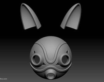 Princess Mononoke, Mask and Ears, Ghibli, 3D Model file