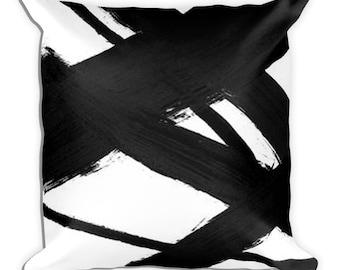 Decorative Pillow, handmade pillow, decorative throw pillow, black and white pillow, throw pillow, decorative pillow for couch, art pillow