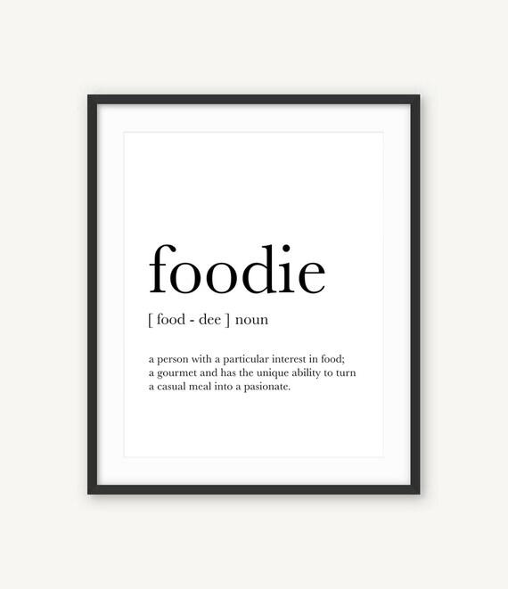 Feinschmecker Poster Geschenk für Koch Küche Dekor