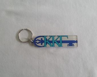 """Keychain -- """"Kappa Kappa Gamma"""" Acrylic Mascot"""