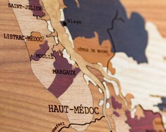 wine map BORDEAUX
