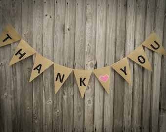 Thank You Banner Bridal Shower Thank You Banner Thank You Garland Thank You Bunting Shower Banner Wedding Garland Wedding Thank You Sign