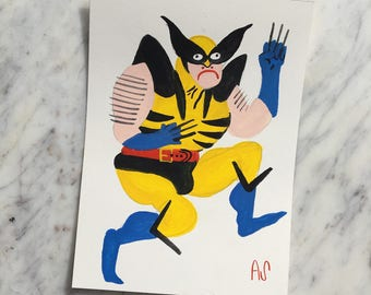 Action Wolverine Painting