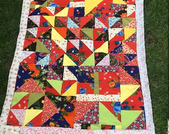 Red Handmade Patchwork