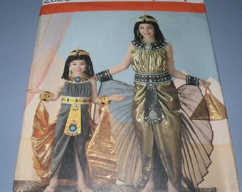 McCalls Egyptian Costume size Girls 3 to 6 Uncut and Complete Dress, Cape, Headband with Cobra and more
