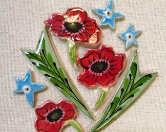 Flowers in Bloom Mosaic Ceramic Tile Pack
