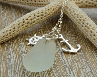 Beach Wedding Necklace, Beach Wedding Jewelry, Sea Glass Necklace, Sea Glass Jewellery, Destination Wedding Jewellery, Beach Jewellery