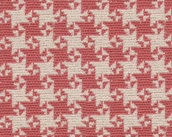 FLASH  SALE!!!,TYH 84 Pink Houndstooth By The Yard