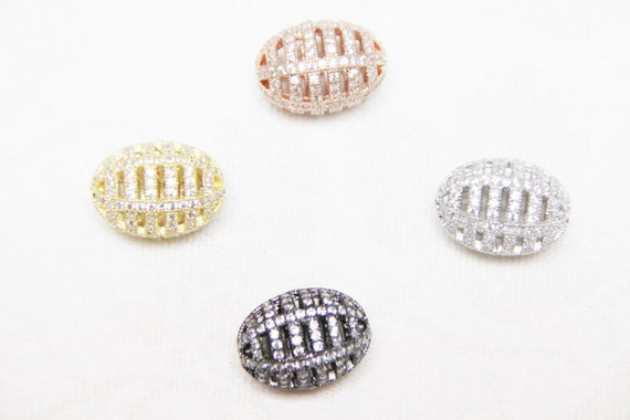 CZ Micro Pave 15x21mm  Cage  Beads