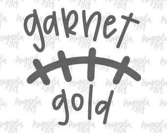 Garnet and Gold Laces svg, Garnet and Gold svg, Football Laces svg, Football svg, Football Team Colors svg, Football Mom svg, Team Colors