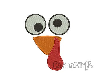 8 Size Turkey Embroidery design Machine Embroidery - Digital INSTANT DOWNLOAD