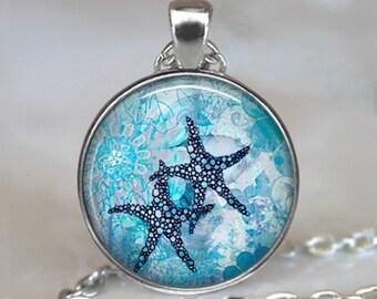 Starfish Garden necklace, Starfish jewelry starfish pendant starfish necklace starfish lover's gift starfish key ring keychain key chain fob