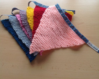 Colourful Hand Knitted Bunting