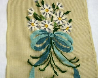 Vintage Needlepoint Canvas, Bucilla Needlepoint Tapestry, Unfinished Floral  Needlepoint On Canvas, Needlepoint