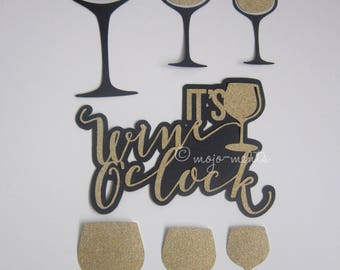 Wine Die Cuts - Pack of 14 - Assembled and Ready To add Straight On To Your Projects