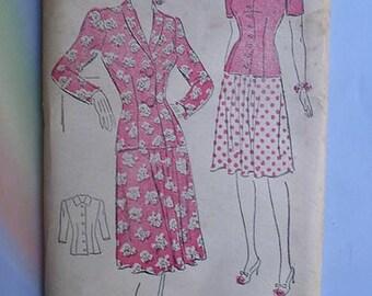 Vintage 40s New York Pattern Swing Era Suit 36 Unused