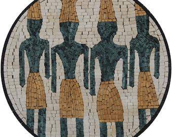 "Phoenician Round Motif Museum 16"" Art Marble Mosaic FG1119"