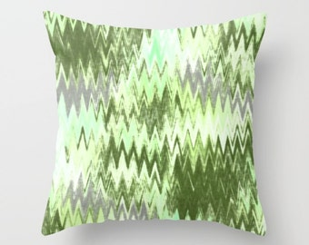 Throw Pillow Cover, Green Grey, Accent Pillow Cover, Decorative Pillow, Home Decor, Green Decor