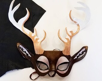 Leather Elk Mask - Made to Order