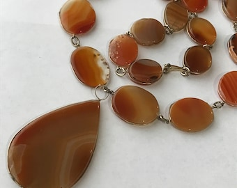 LARGE Agate  Necklace - Tribal Jewelry