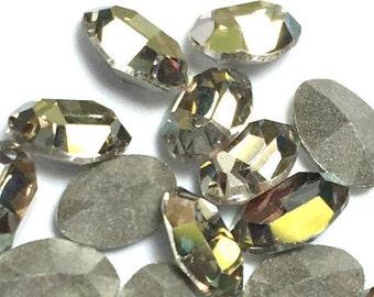 Swarovski oval rhinestone, 6x4 Oval Rhinestones Crystal Starlight Article #4120 Qty 6 For Crystal Clay