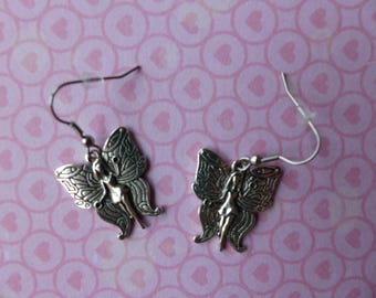 Silver fairy earrings