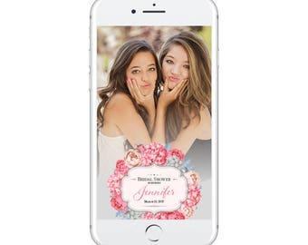 Floral Bridal Shower Snapchat Geofilter