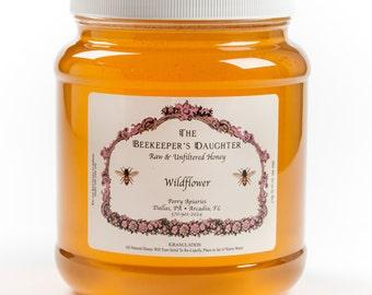 Raw Wildflower Honey - 5 lb Jar