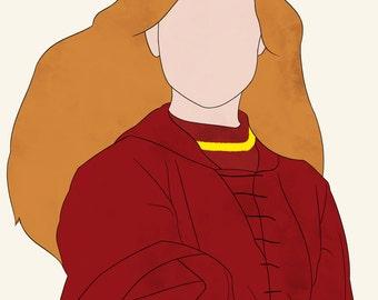 Harry Potter Ginevra Ginny Weasley Hogwarts Gryffindor Witch