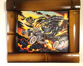 BigToe's Tiki Hot Rod Giclee Print on Canvas, item 188