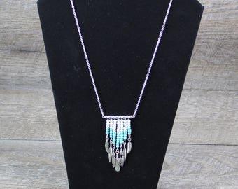 Boho Style Mini Bib Fringe Necklace