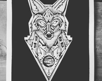 Indian-inspired Fox illustration