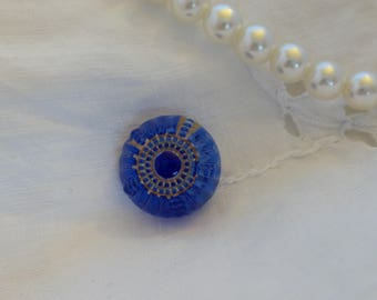 Blue Glass Button