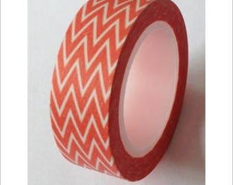 Washi tape (washi) - dark orange Chevron
