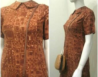 50s 60s abstract mid century vintage dress