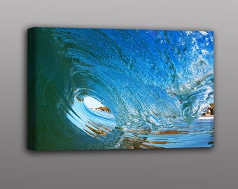 Wave Photography - Large Canvas Print of Ocean Surf Waves Photos Art