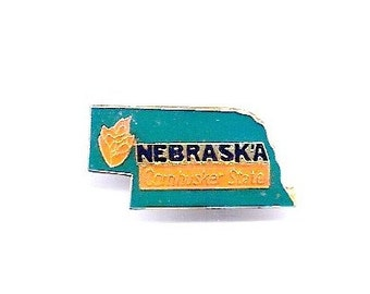 Vintage Nebraska Cornhusker State Hat/Lapel