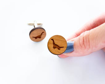 Plesiosaur Cufflinks, Dinosaur Cufflinks, Gifts for Groom, Gifts for men, Formal Wear, Wedding Gift Ideas, For Him, Black Tie, Usher