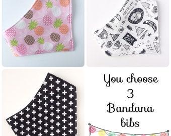 Baby Bandana Bib Set  - Baby - Bib - Bandana Bib - Baby Gift Set - Bibs & Burping - Baby Shower Gift