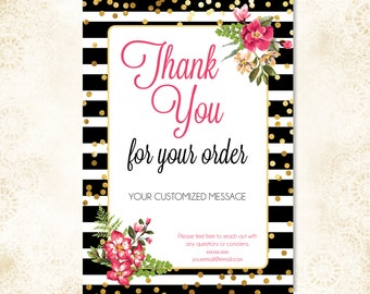 5x7 Customized Thank You Card