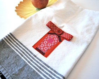 Birdhouse Tea Towel, Tea Towels, Linens, Kitchen and Dining Towels, Dish Towel, Home and Living Towels, Dishcloths and Kitchen Towels