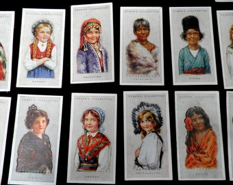 Ogdens Children of All Nations Cigarette Cards 1924 Set of 50 Rare Costume Collectable
