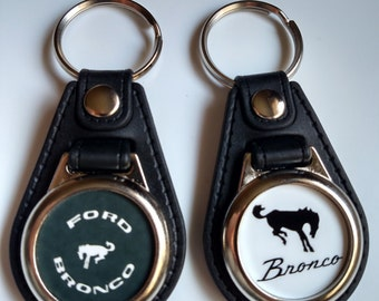 FORD BRONCO KEYCHAIN 2 pack black and white