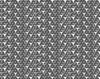 Pandarama - Rice Paper Fabric - Black - Sold by the 1/2 Yard