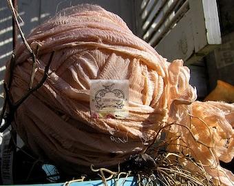 Peach Chiffon Silk Ribbon